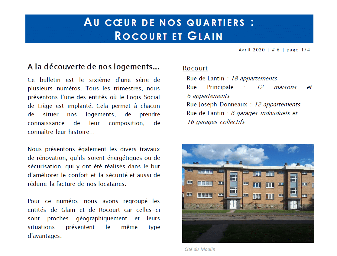 Au coeur de nos quartiers : Rocourt et Glain
